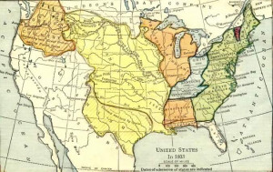 Us Map Before Louisiana Purchase