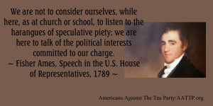 We are not to consider ourselves, while here, as at church or school ...