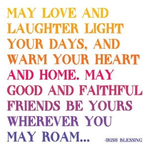 May Love and Laughter Quotable Card