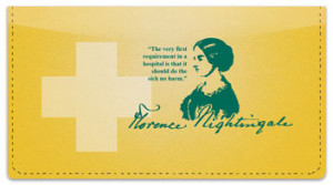 Florence Nightingale Quote Checkbook Cover