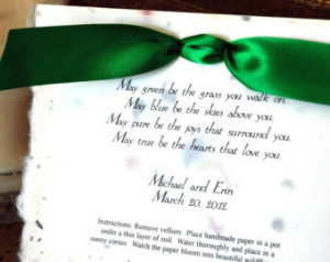 Set of 35 Irish Blessing Plantable Poem Wedding Party Favor Christian ...