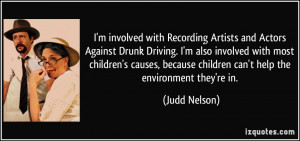 involved with Recording Artists and Actors Against Drunk Driving ...
