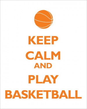 Keep Calm and Play Basketball