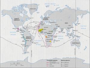 European Exploration Map...