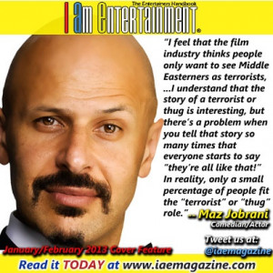 Maz Jobrani quote on stereotypes in the Jan/Feb 2013 issue of I Am ...