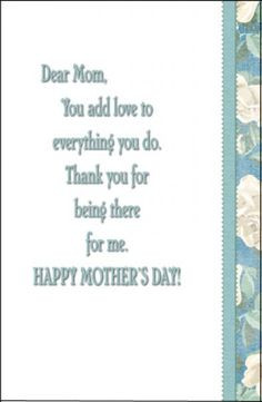 Mother's Day Messages and Quotes