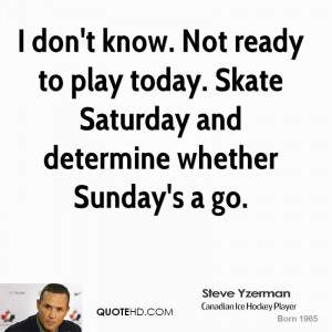 don't know. Not ready to play today. Skate Saturday and determine ...