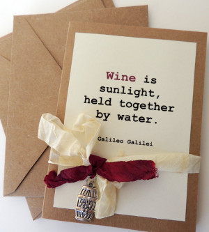 Famous Wine Quote Card Set, Wine Card Set, Wine Lovers Gift