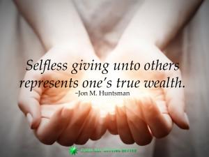 giving Huntsman Cancer Institute Jon Huntsman others selfless wealth