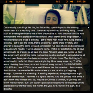 ... had open heart surgery and this is what he had to say via Instagram
