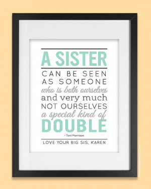 Personalized Gift for Sister 8x10 Sisters Quote by papermintsshop, $25 ...