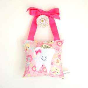 Keep your child's tooth safe in a Tooth Fairy pillow