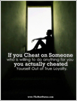 True loyalty.