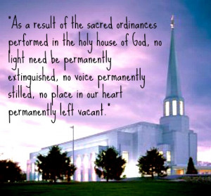 Lds Quotes On Temples A mormon temple and purple sky