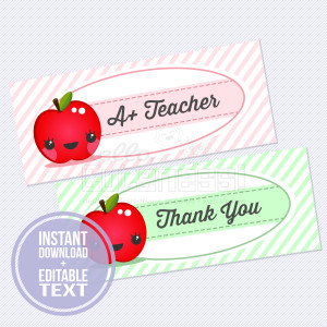 ... are here: Home / Products / Teacher Appreciation Candy Bar Wrappers