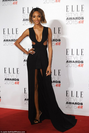 Jourdan Dunn flashes her chest in plunging gown... before making swift ...