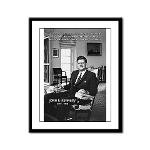 Humanist John F. Kennedy Framed Panel Print