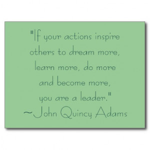 John Quincy Adams Leadership Quote Postcards
