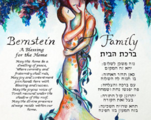 Love Tree 3 Blessing for the Home i n Hebrew and English ...