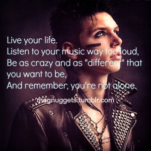 Andy Biersack Quotes About Cutting