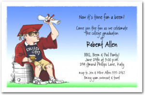 Keg College Graduation Party Invitations from TheInvitationShop.com