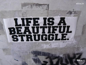 Quote Life Is Beautiful Wallpaper