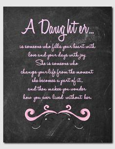 ... Daughter, Daughter Print, Birthday, Teens, Tweens, Daughter Poem