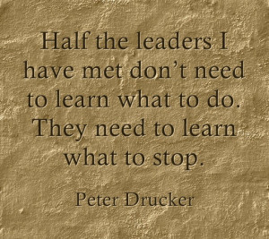 What do you think leaders need to stop doing?
