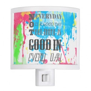 Cool quote colourful vibrant watercolours splatter night lights