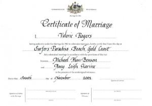 how to order marriage certificate queensland