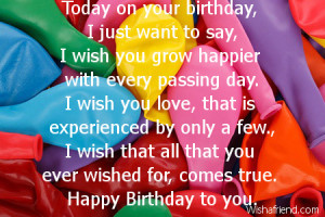 On Your Birthday, I Want To Say