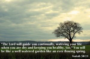 Verses on Health Isaiah 58:11