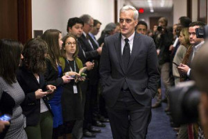 White House Chief of Staff Denis McDonough (C) arrives to attend a U.S ...