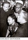 How is Mamie Till's reaction and emotion.