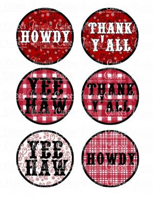 Howdy Birthday Cowboy or Cowgirl Bandanna Sayings Round Digital ...