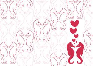 Seahorse Love Lovey Whimsical Design
