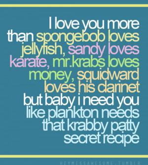 spongebob love quotes