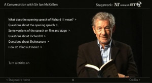 Click here: A conversation with Sir Ian McKellen .