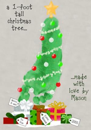 handprint christmas card ideas for kids