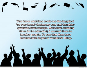 Beautiful graduation background quote