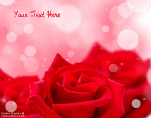 Quote Design Maker - Red Rose Beauty Quotes