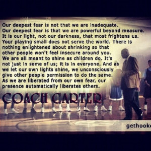Sports Movie Quotes, Quotes Coachcart, Dem Quotes, Coach Carter Quotes ...
