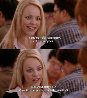 funny, mean girls, movie, quote, rachel mcadams, regina george, tvm