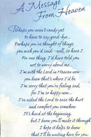 Poem Mom picked out to be read at the Funeral. in My Photos by