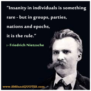 insanity quotes insanity in individuals is