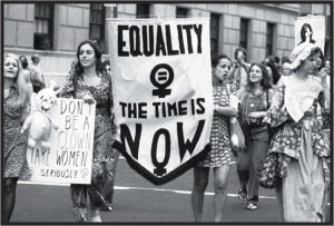 women's-liberation parade on Fifth Avenue, in New York, in August ...