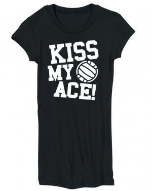 Details about Volleyball Kiss My Ace Juniors Long T-shirt Free Ship