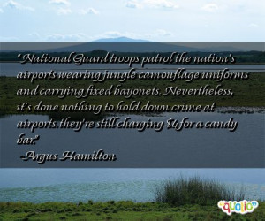 National Guard troops patrol the nation's airports