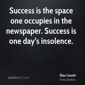 Elias Canetti Success Quotes