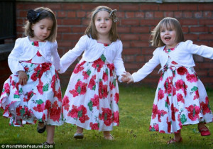 Three sisters born in nine months... but they're not triplets! Mother ...